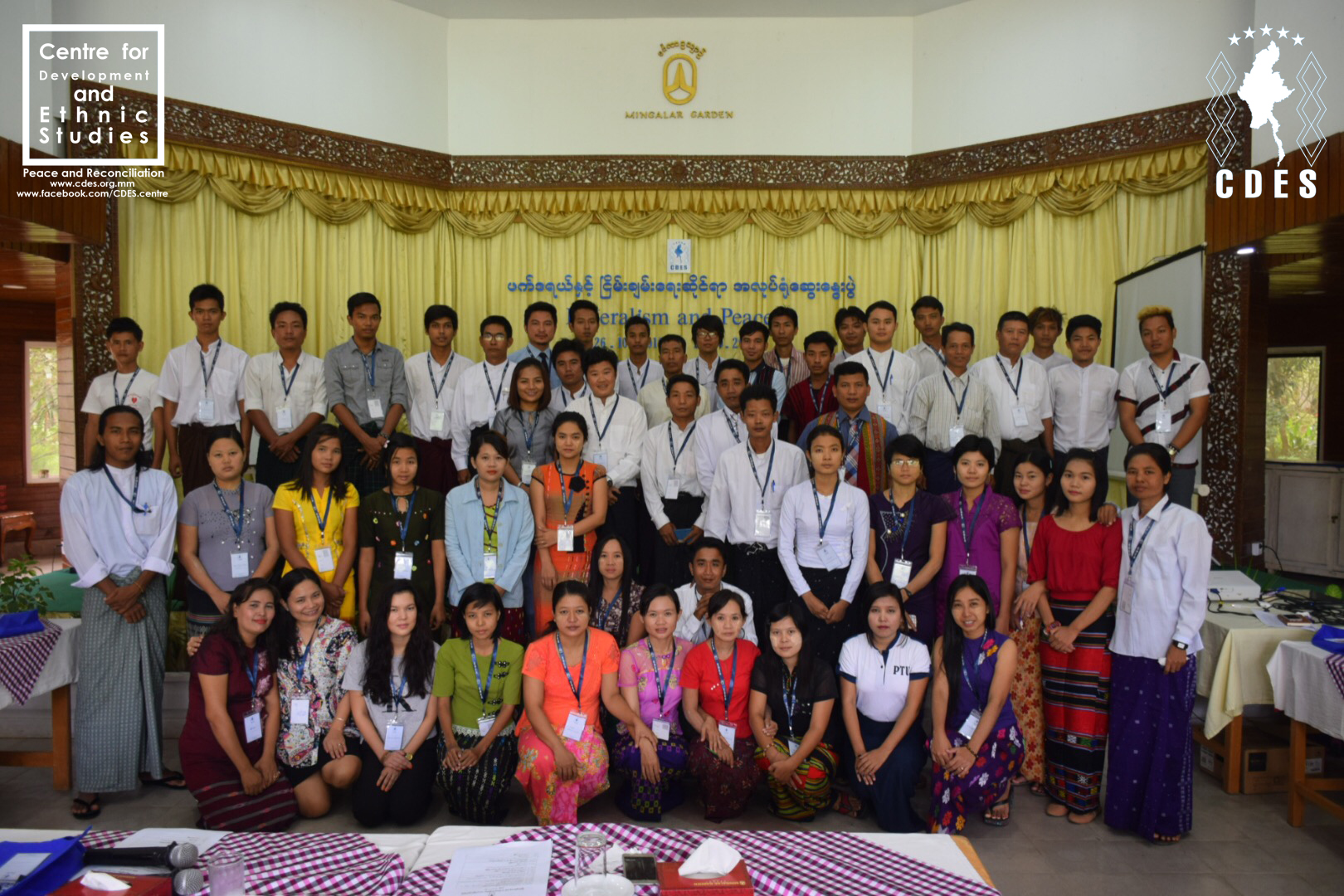 CDES draws a grateful youth leader to tears for Federalism and Peace Workshop in Pyay, Bago Region.