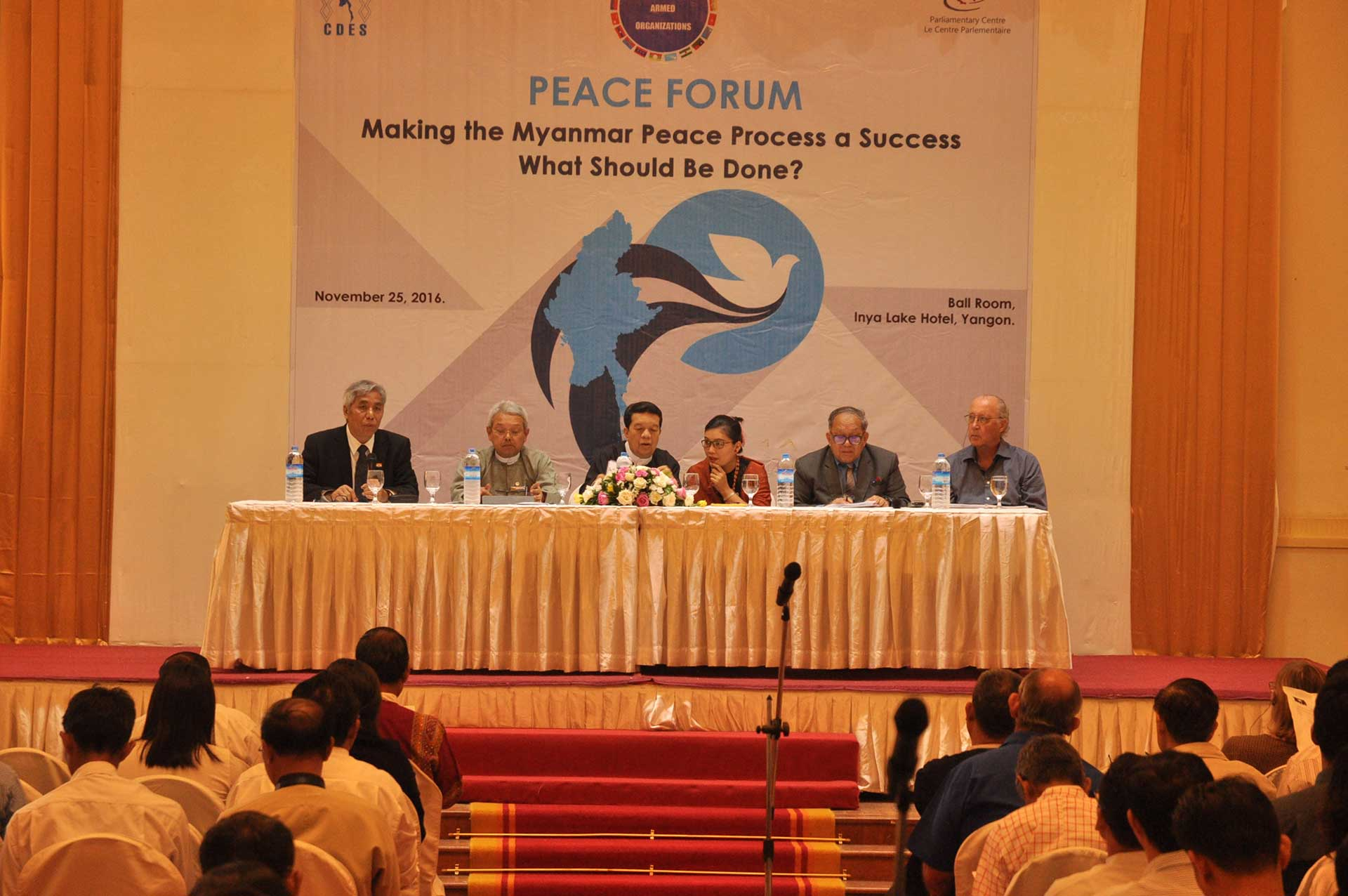 International, National Peace figures Honor CDES Peace Forum.