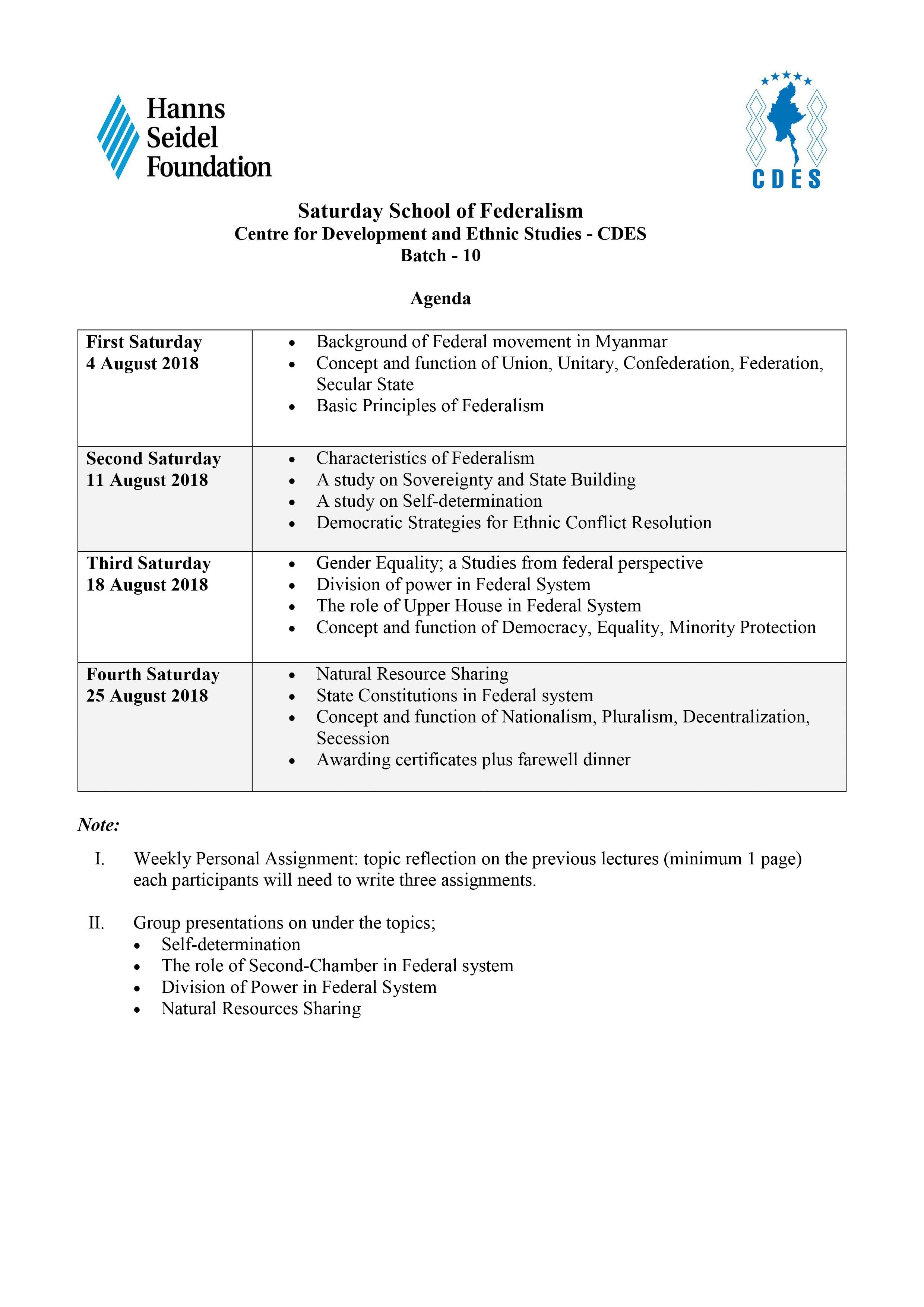 Saturday School of Federalism (Batch-10)