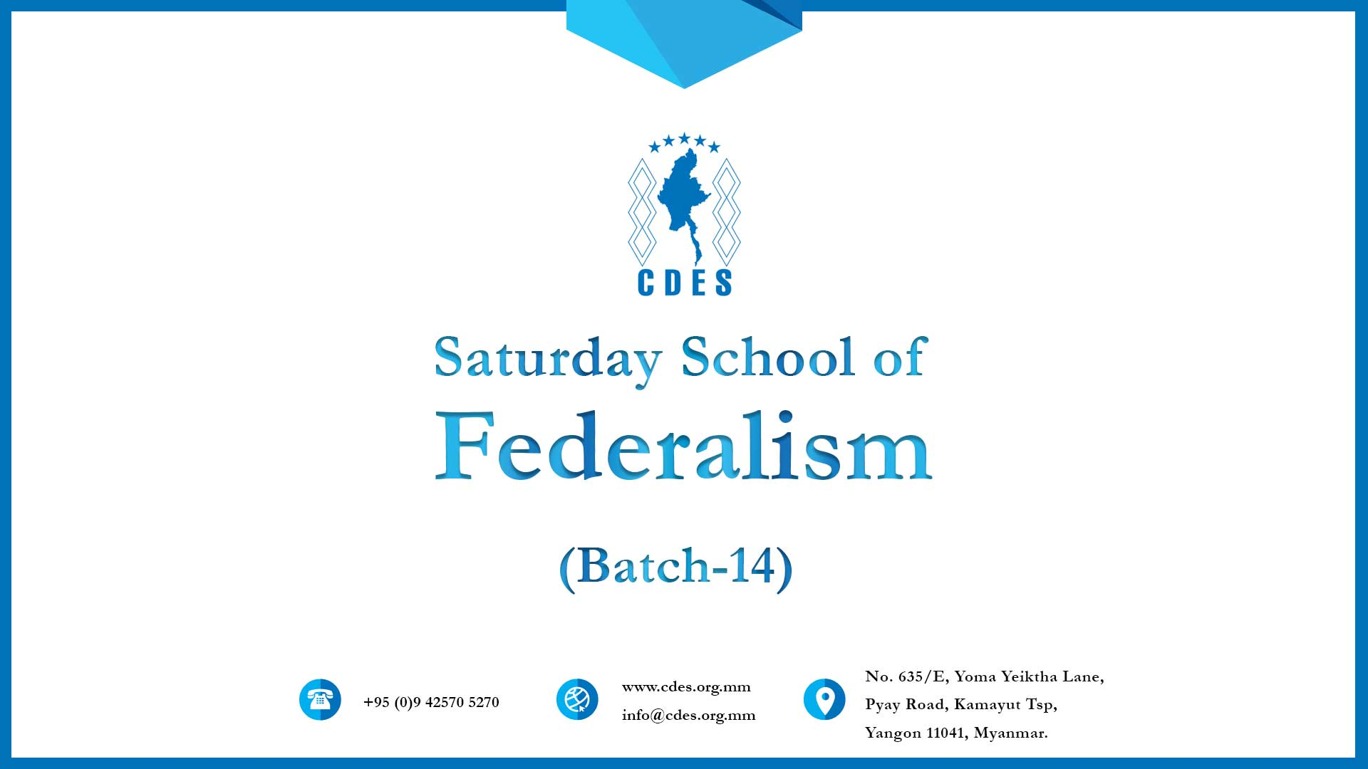 Saturday School of Federalism (Batch-14)